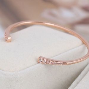 Henri Bendel Bracelet Rose Gold Pave Cuff New